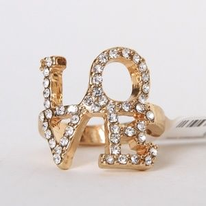 Jewelry - LOVE Gold Tone Ring